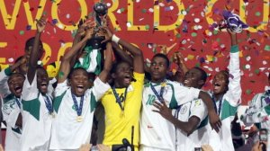 GOLDEN EAGLETS WITH CUP BBC