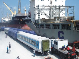 TRAINS OFFLOADED AT PORT