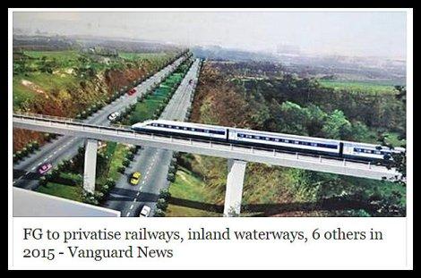 FG to privatise railways, inland waterways, 6 others in2015