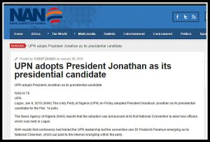 GEJ A UPN ADOPTS
