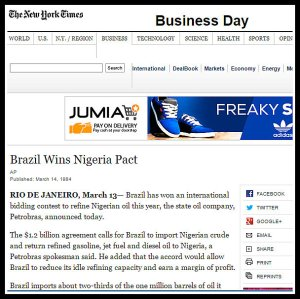 BUHARI AND HIS imports fuel from brazil new york times