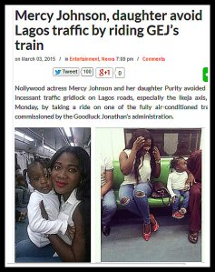 MERCY JOHNSON AND DAUGHTER GEJ TRAIN